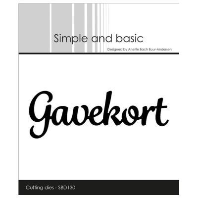 """Simple and Basic die """"Gavekort"""""""