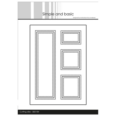 """Simple and Basic die """"A6 Card Front #5"""""""