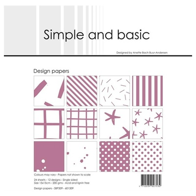 Simple and Basic Design Papers 15x15cm