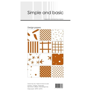Simple and Basic Design Papers 10x21cm
