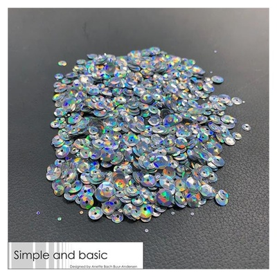 """Simple and Basic Palietter """"Holographic Silver"""""""