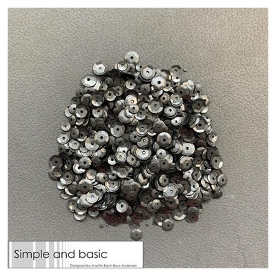 """Simple and Basic Sequins """"Black"""""""