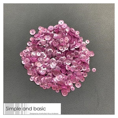 """Simple and Basic Sequins """"Pink"""""""