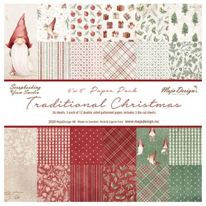 "Traditional Christmas - 6 x 6"" Paper Pack"