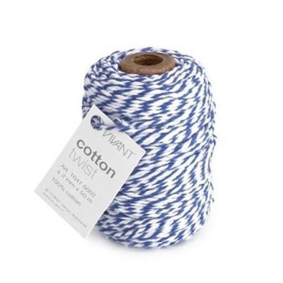 Vivant - Cotton twist, Hvid Blå