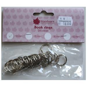 Book rings - 19 mm 24 stk.